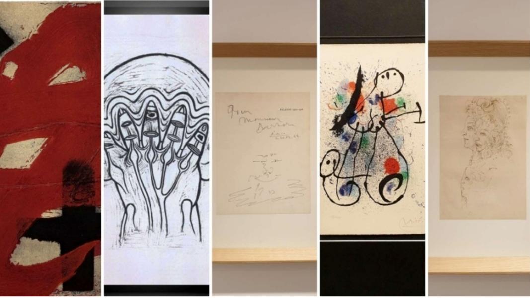 "Exposición ""Primeras Firmas"" – Lita Cabellut, Jaume Plensa, Joan Miró, Antoni Tàpies…"